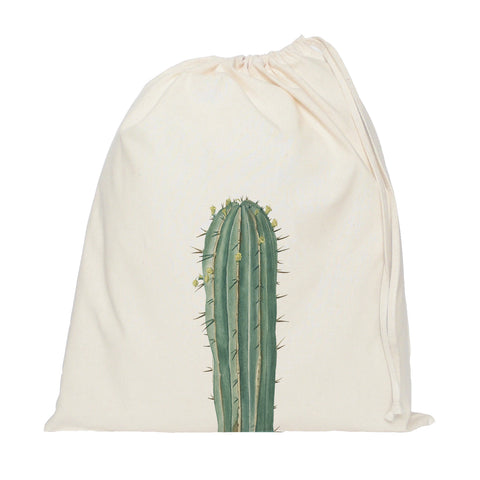 Long cactus drawstring bag