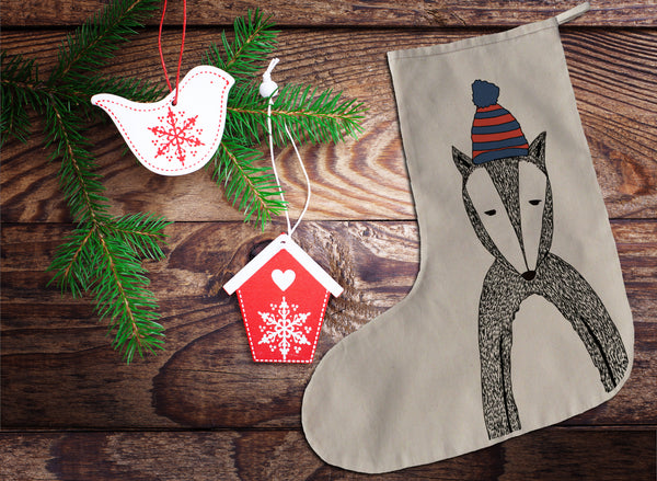 Chad the badger Christmas stocking
