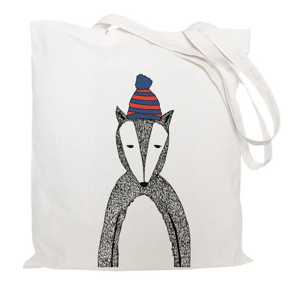 Chad the badger tote bag
