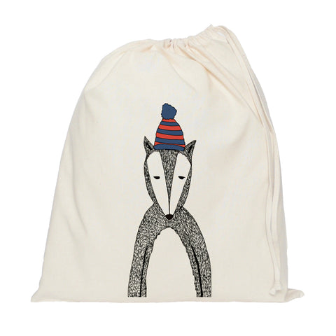 Chad the badger drawstring bag