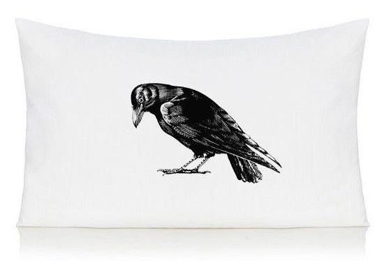 Crow pillow case