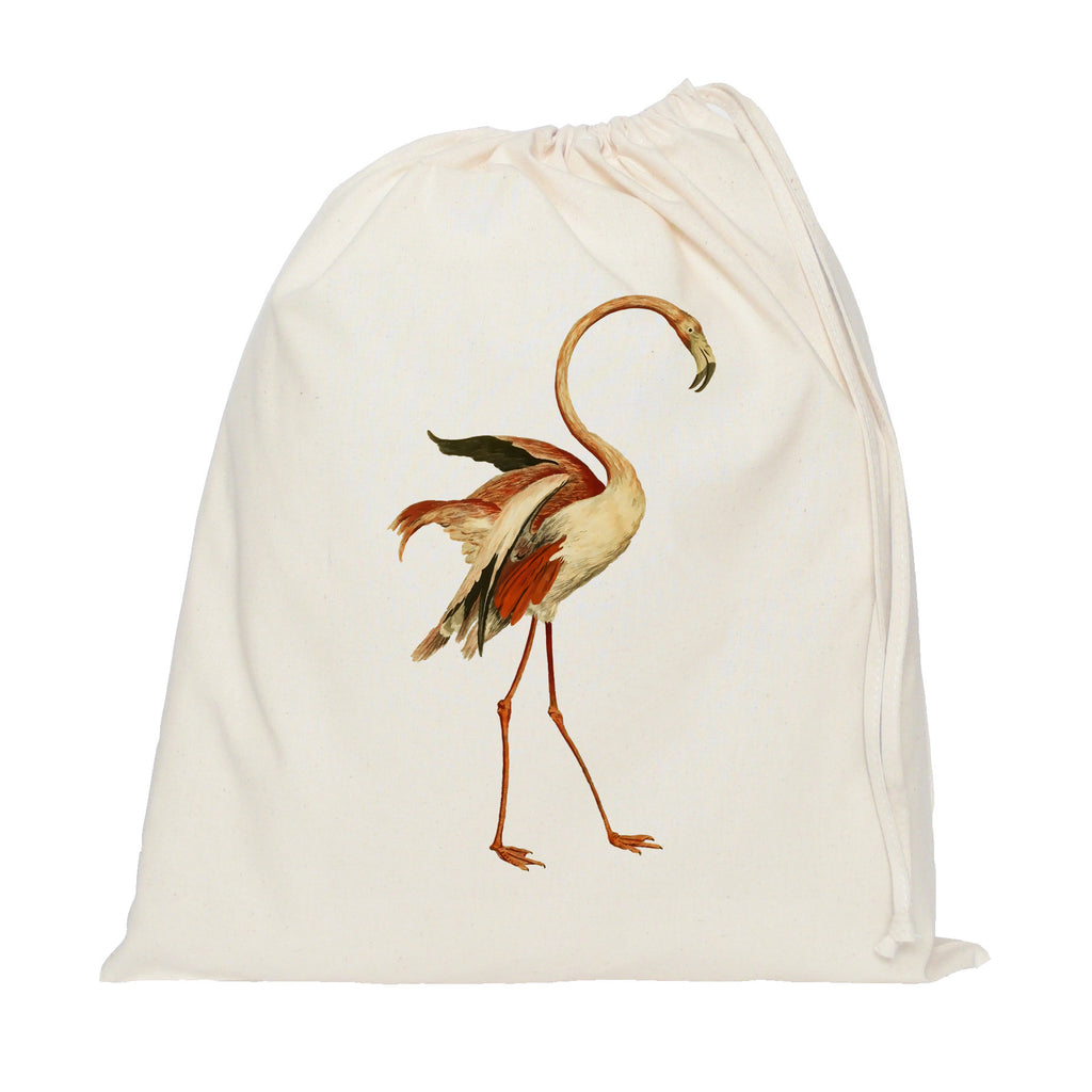 Dancing flamingo drawstring bag