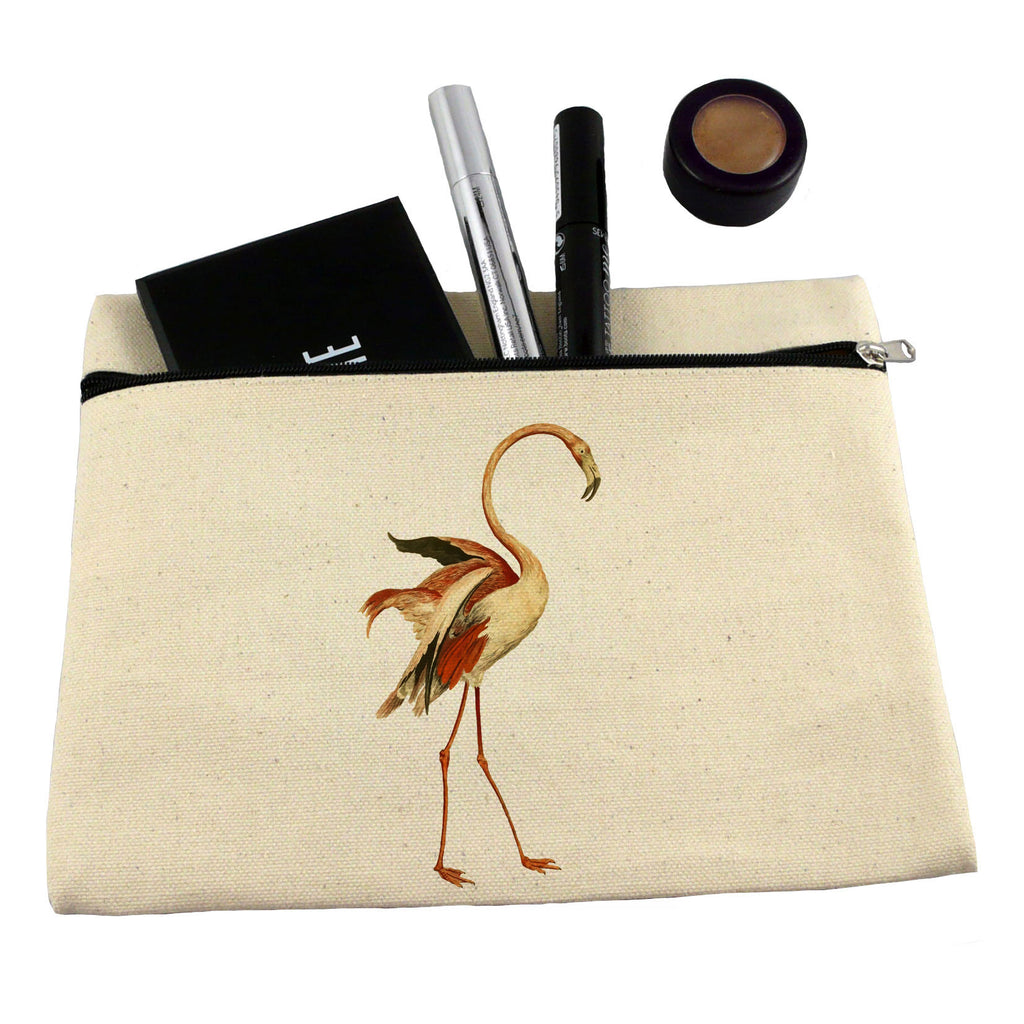 Dancing flamingo make up bag/ pencil case