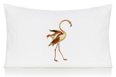 Dancing flamingo pillow case