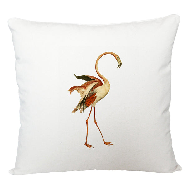 Dancing flamingo cushion cover