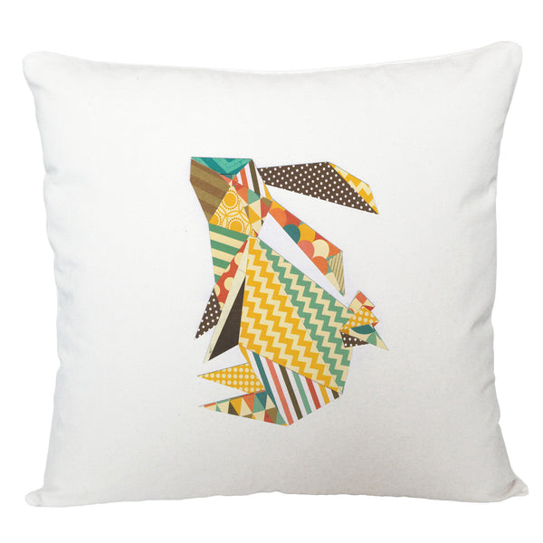Triangle rabbit cushion cover