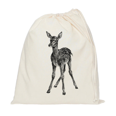 Deer drawstring bag