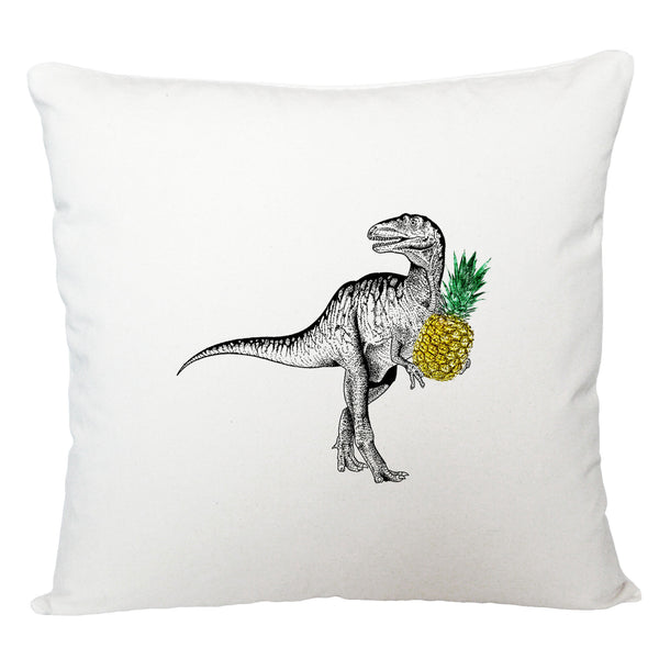 Dinosaur with pineapple cushion cover
