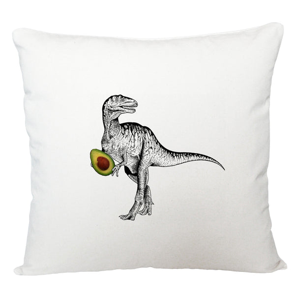 Dinosaur with avocado cushion cover