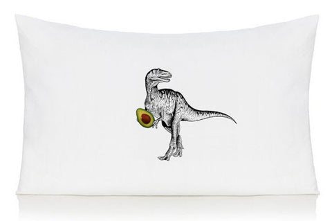 Dinosaur with avocado pillow case