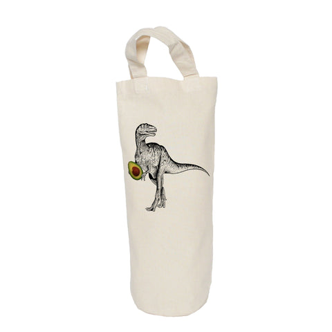 Dinosaur with avocado bottle bag