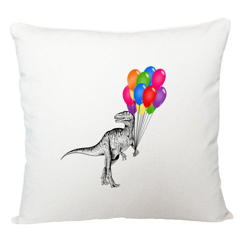 Dinosaur with balloons cushion cover