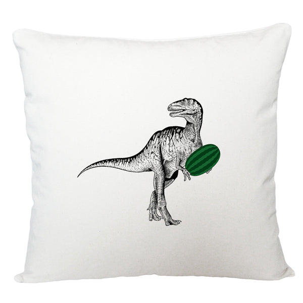 Dinosaur with watermelon cushion cover