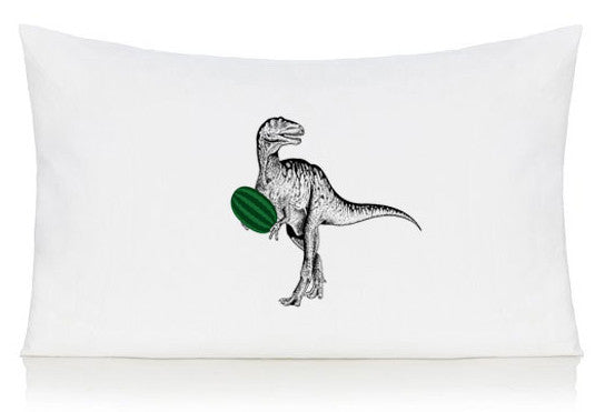 Dinosaur with watermelon pillow case