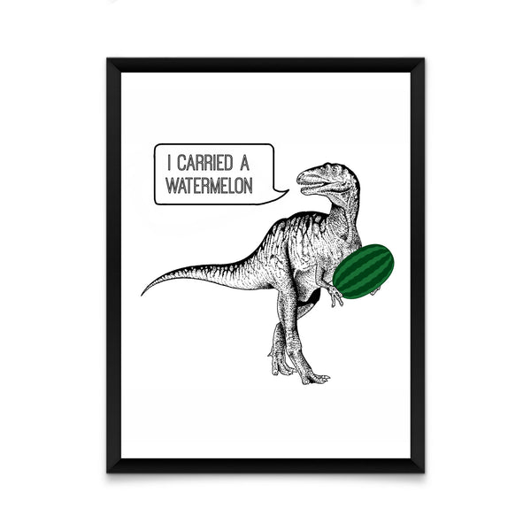 Dirty dinosaur print/ wall art
