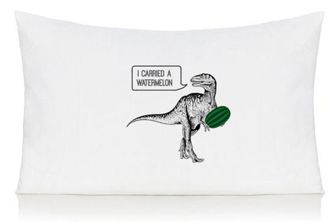 Dirty dinosaur pillow case