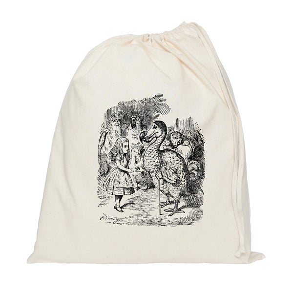 Dodo Alice in Wonderland drawstring bag