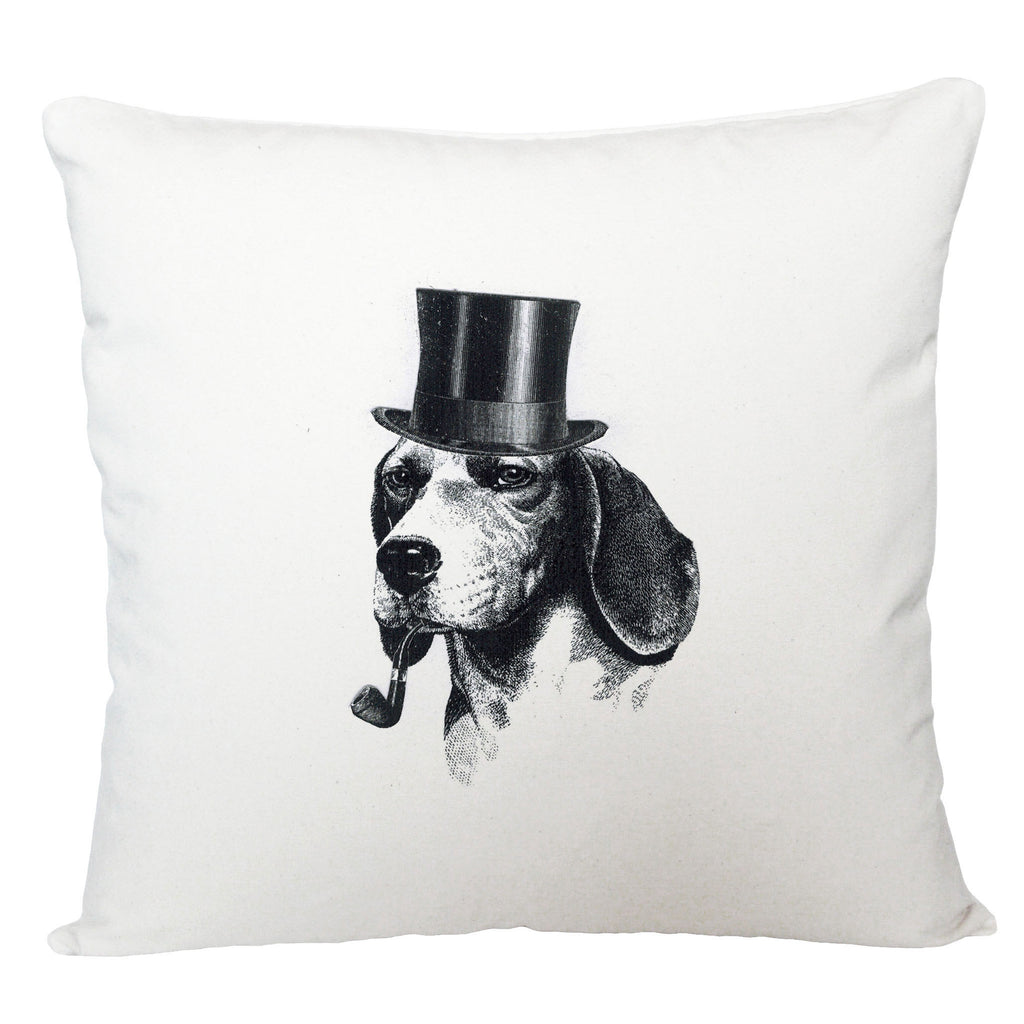 Dog with pipe cushion cover