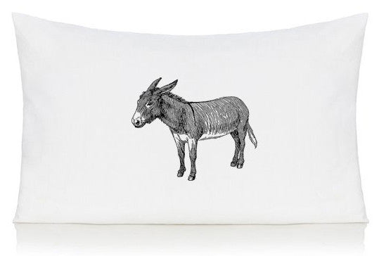 Donkey pillow case