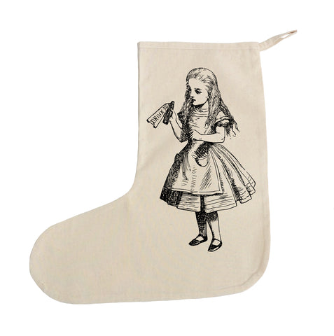 Alice in Wonderland drink me Christmas stocking