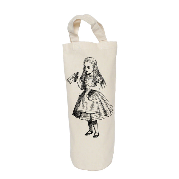 Drink me, Alice in Wonderland bottle bag