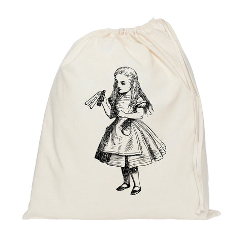 Drink me, Alice in Wonderland drawstring bag