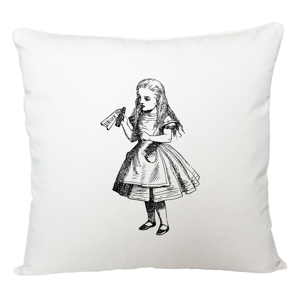 Drink me, Alice in Wonderland cushion cover