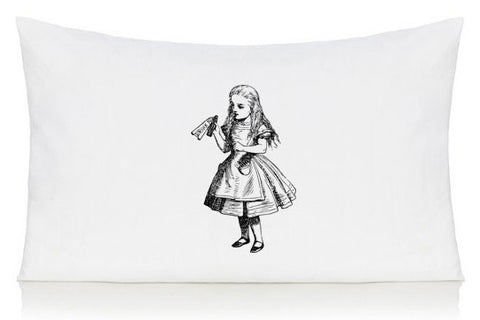 Drink me Alice in Wonderland pillow case