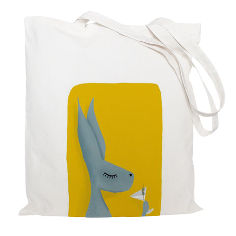 Hare with cocktail tote bag