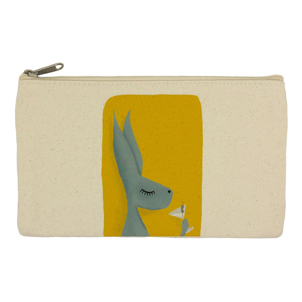 Hare with cocktail pencil case