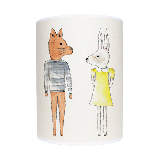 Rabbit and fox lamp shade/ ceiling shade