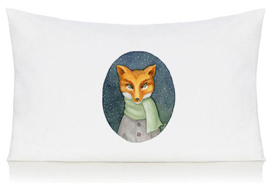 Fox in a scarf pillow case