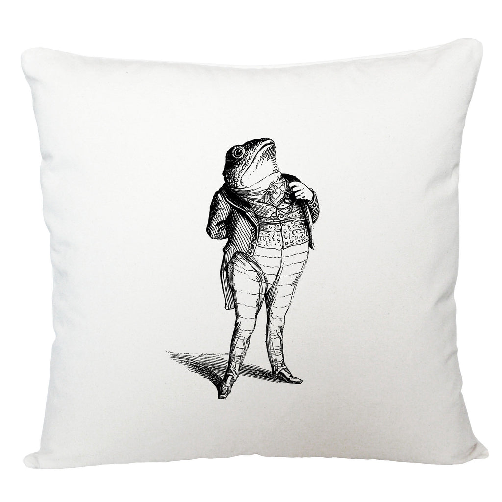 Toad in a suit cushion cover