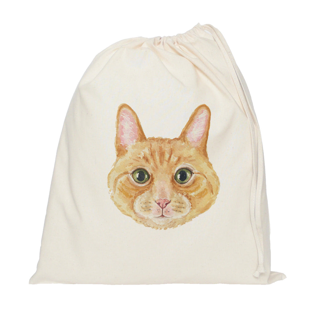 Ginger cat drawstring bag