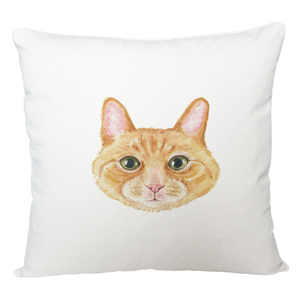 Ginger cat cushion cover