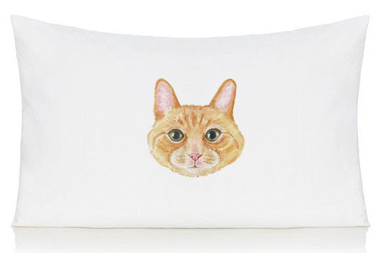 Ginger cat pillow case
