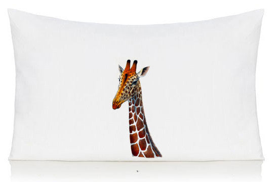 Giraffe head pillow case