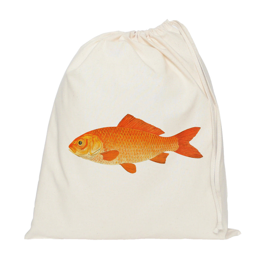 Gold fish drawstring bag