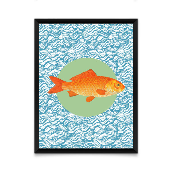 Gold fish print/ wall art