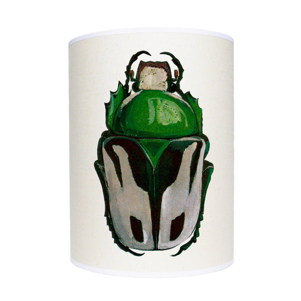 Green beetle lamp shade/ ceiling pendant