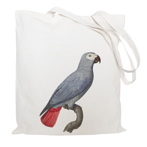 Grey parrot tote bag