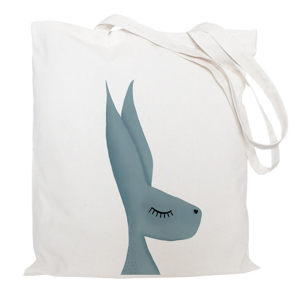 Grey hare tote bag