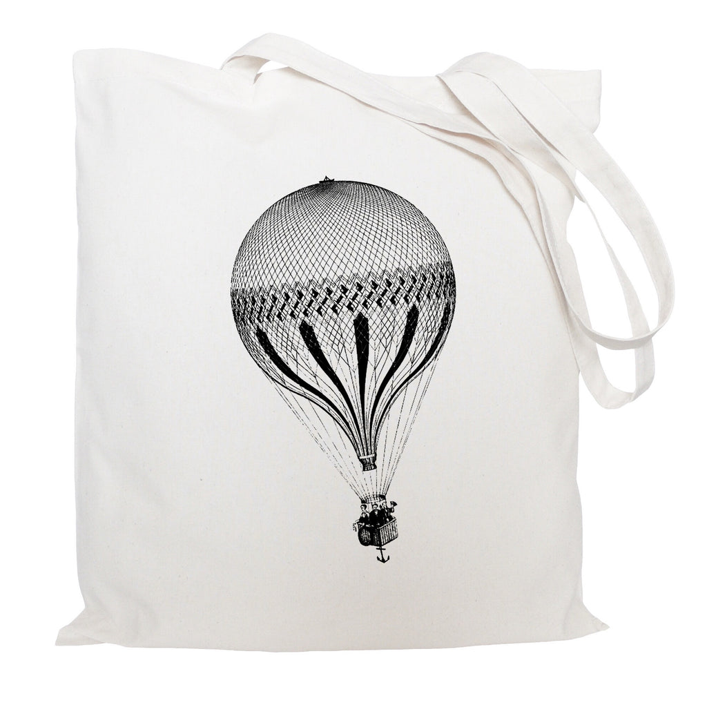 Hot air balloon with anchor tote bag