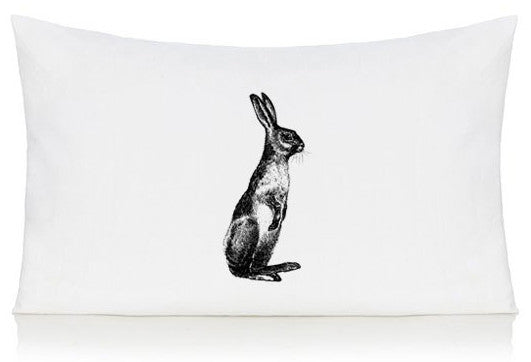 Standing hare pillow case