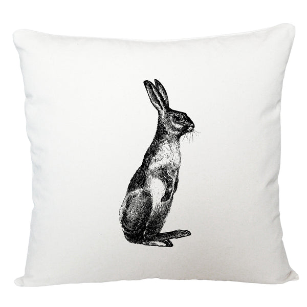 Standing hare cushion cover
