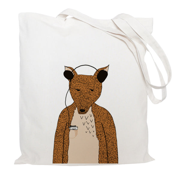 Hollywood the fox tote bag