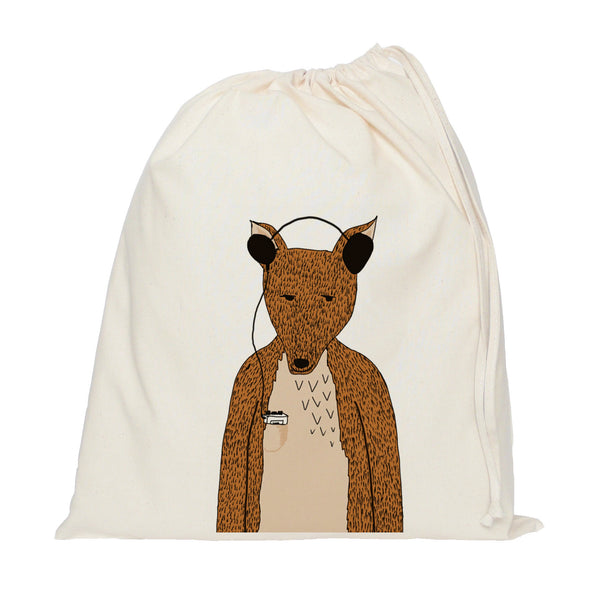 Hollywood the fox drawstring bag