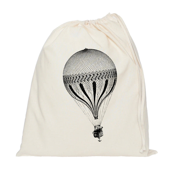 Hot air balloon drawstring bag
