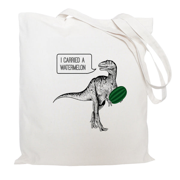 Dirty dinosaur tote bag