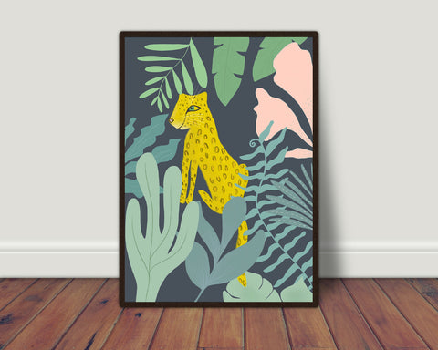Cheetah in the jungle print/ wall art